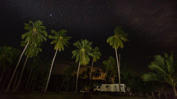 Nachthimmel am Chacala-Beach.