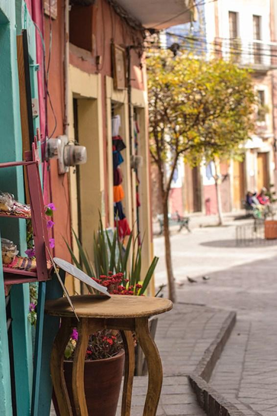 Viele kleine Läden und Restaurants verstecken sich in den Gassen von Guanajuato.