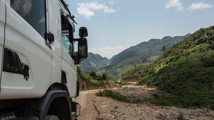 Die berüchtigte Ruta 5 in Guatemala ist nichts für zarte Gemüter. 30km in 3h!