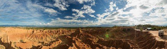Schöner Campingplatz im Desierto de Tatacoa.