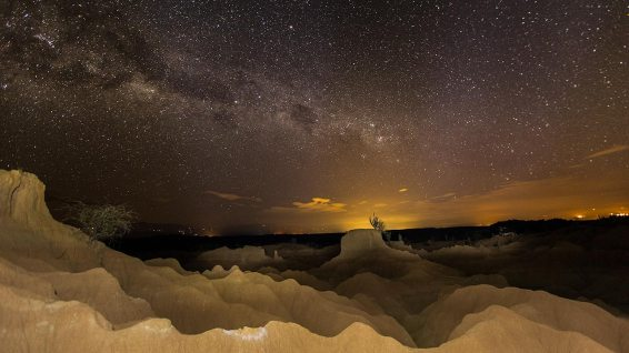 Desierto de Tatacoa bei Nacht.