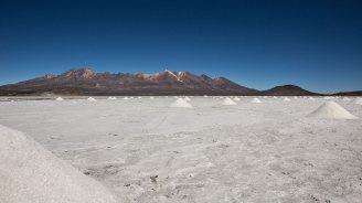 Bio-Stein-Salz in Hügelform.