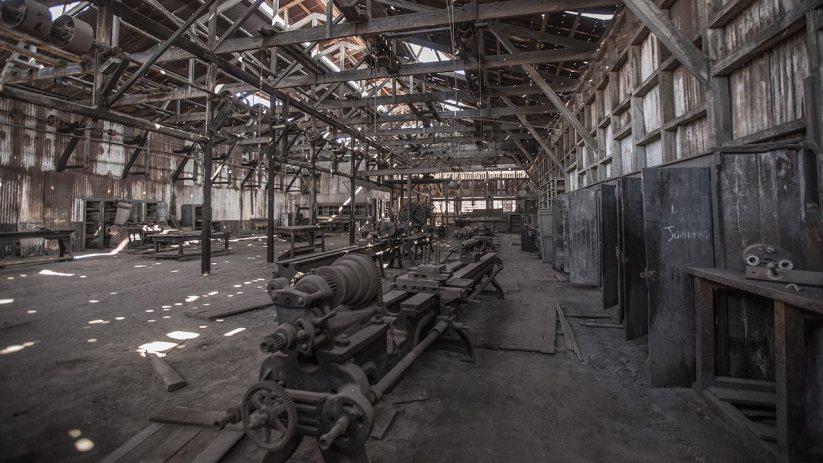 Humberstone hat unzählige verlassene Industriehallen...