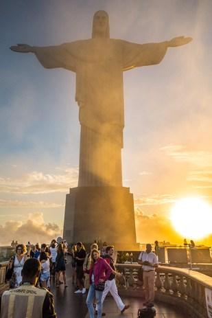 Mystische Stimmung rund um die Christus-Statue in Rio.
