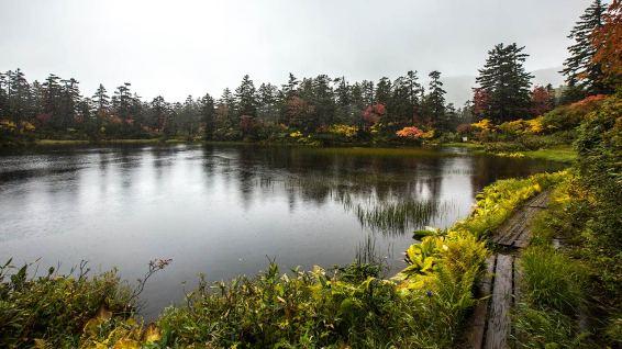Unser typisches Hokkaido-Wetter begleitet uns auch auf der nächsten Wanderung.