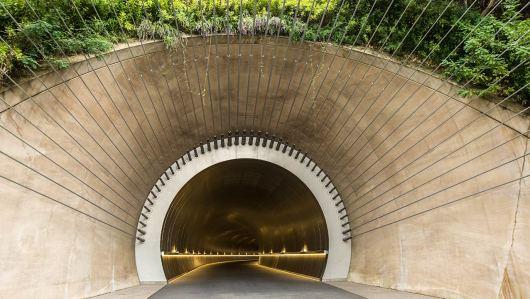 ... führt durch das wahrscheinlich schönste Tunnel...