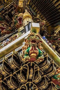 Nikko-Tempel-Verzierung.