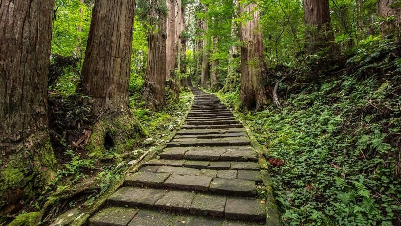Einer unserer schönsten Tempel befindet sich auf dem Berg Haguro-san.