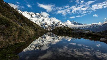 Nach 2200 Stufen ist der Spiegelsee erreicht.
