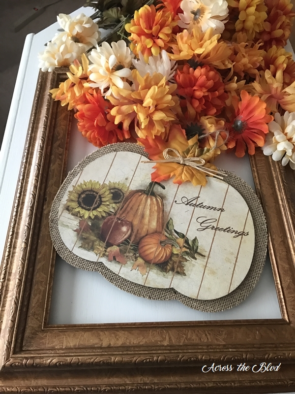 Fall Floral Frame Wreath supples