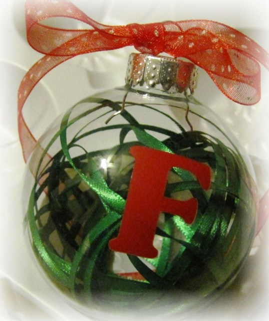 Decorating a Clear Ornament