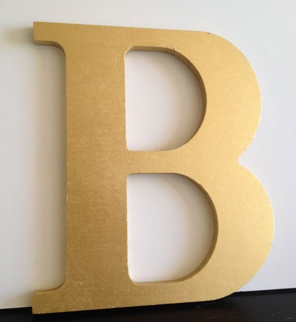 spray painted initial