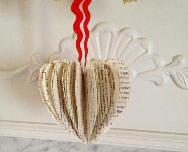 Book Page Heart