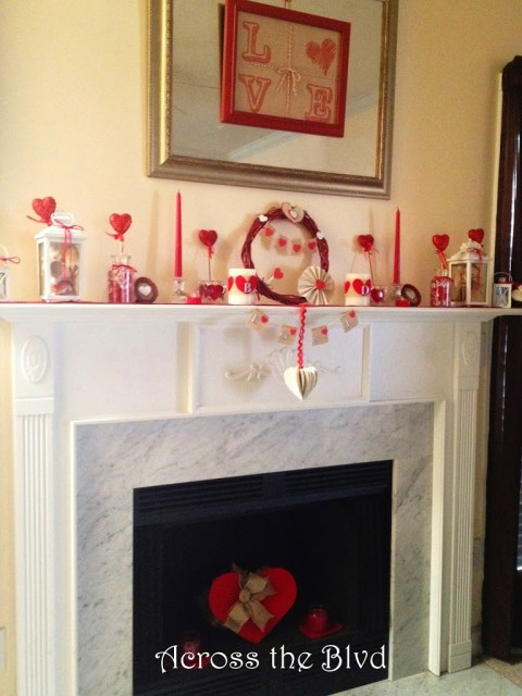 Valentine's Mantel Decor