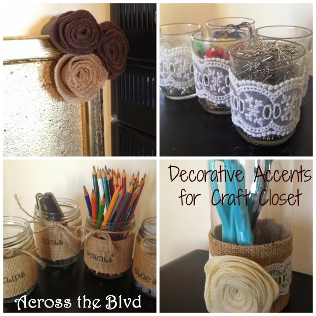 Decorative Accents for Craft Closet
