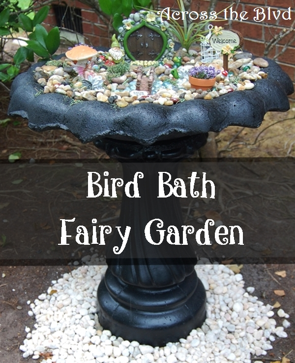 Bird Bath Fairy Garden Across the Blvd