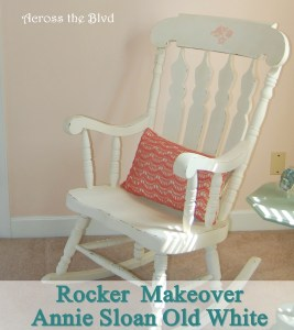 Rocker Makeover with Annie Sloan Old White
