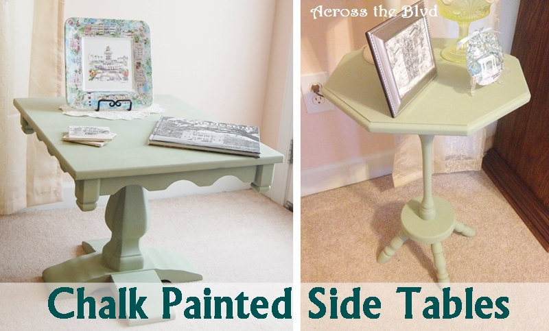 Chalk Painted Side Tables Across The Blvd