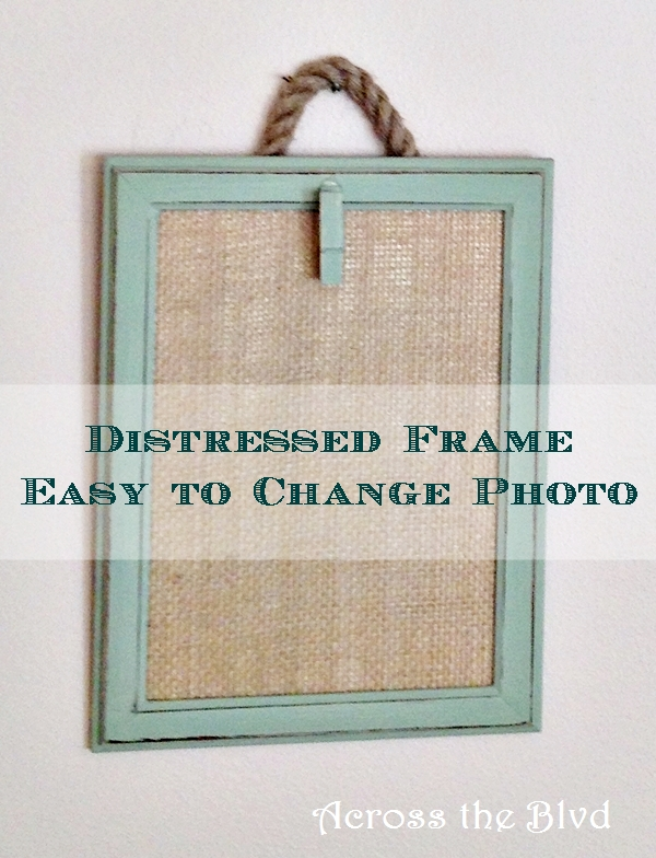 distressed frame easy to change photo