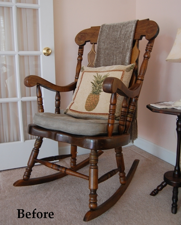 Rocking Chair Makeover With Chalk Paint Across The Boulevard