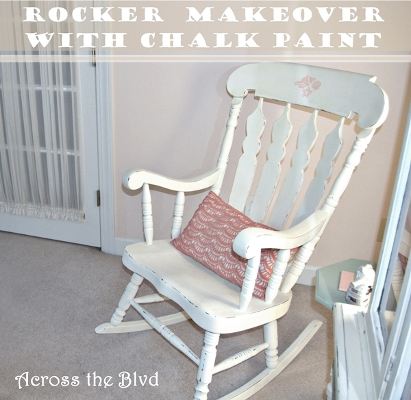 rocker makeover with chalk paint
