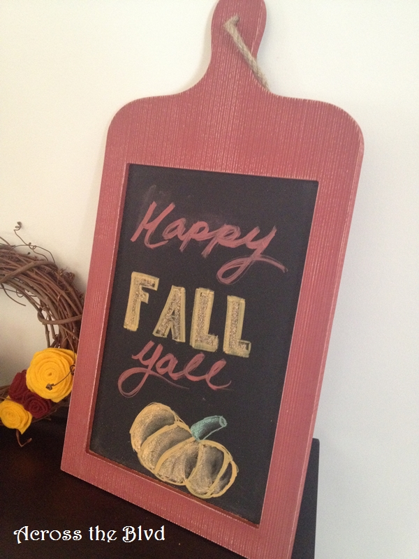 Fall Chalkboard Decor