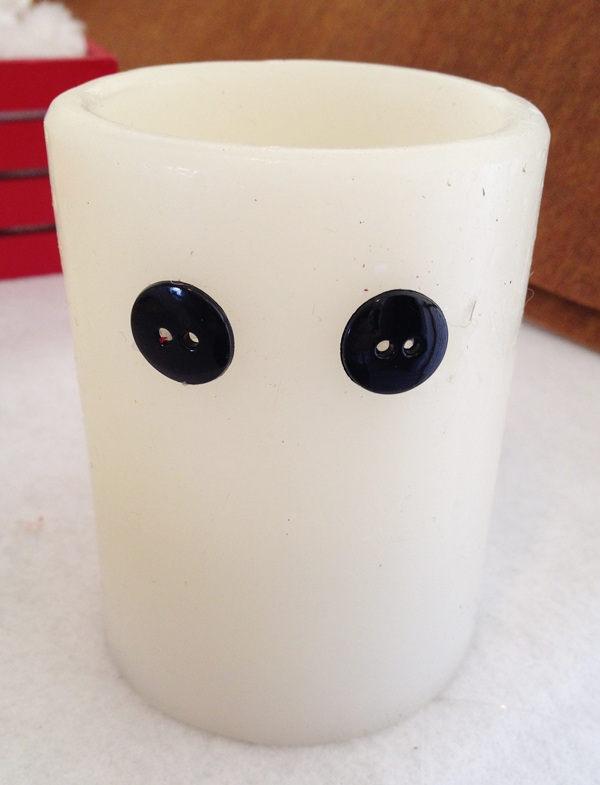 eyes for snowman candle