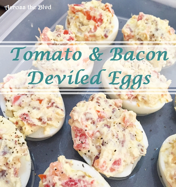 Tomato and Bacon Deviled Eggs