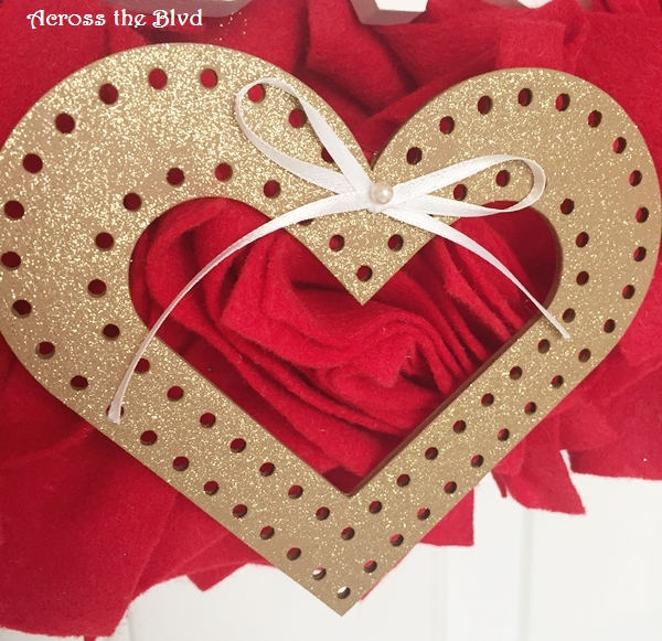 Gold Painted Heart