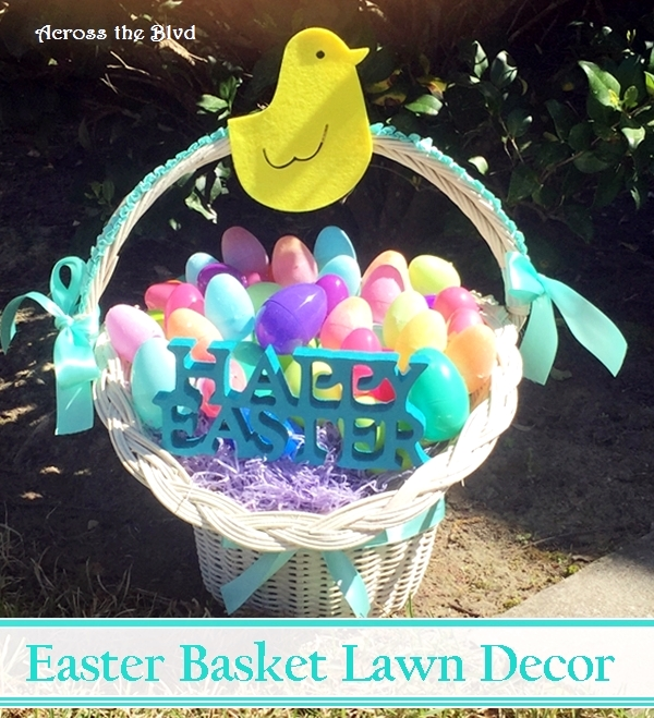 Easter Basket Lawn Decor Across the Blvd