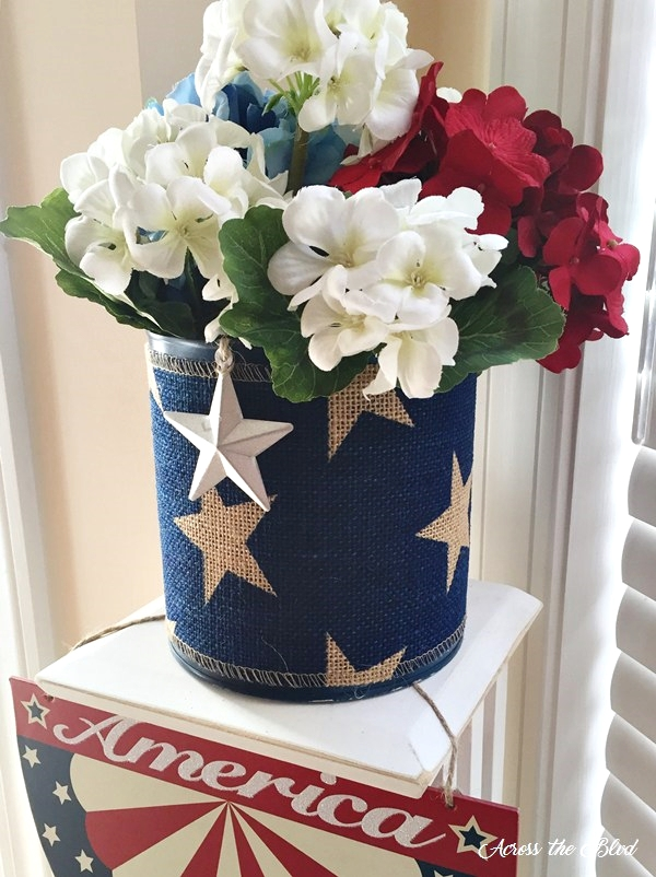 Patriotic Decor ~ Upcycled Coffee Can