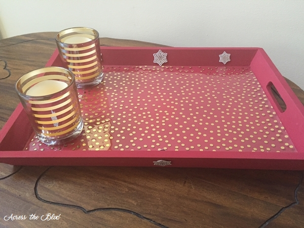 Thrift Store Tray Gets a Christmas Makeover