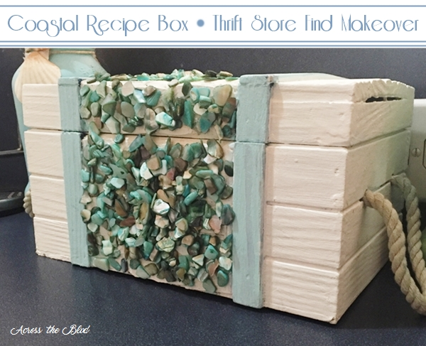 Coastal Recipe Box Thrift Store Find Makeover Across the Blvd