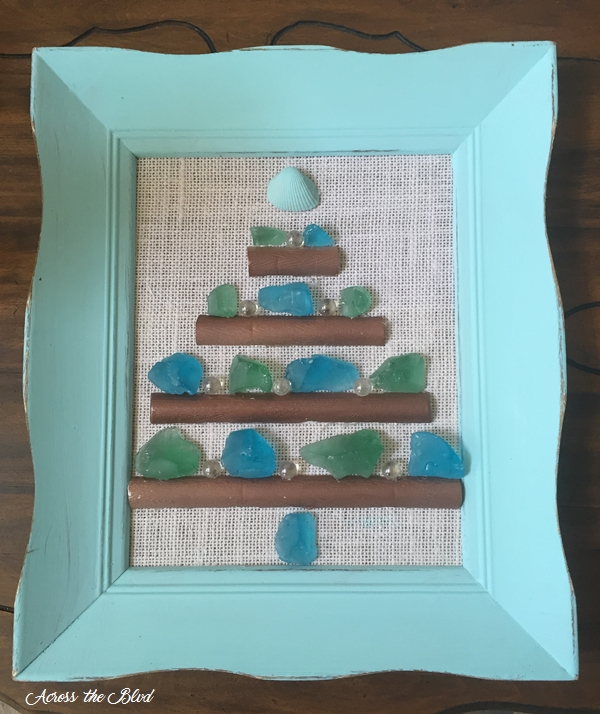 Sea Glass Christmas Tree Decor Across the Blvd