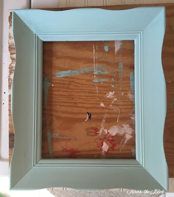 Painted frame for sea glass decor