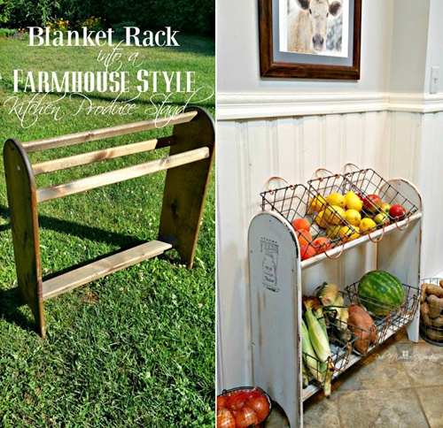 Blanket stand into Veggie Stand before and after Redo It Yourself Inspirations