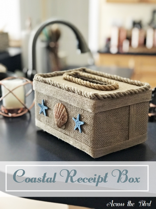 Coastal Box for Saving Receipts Across the Blvd
