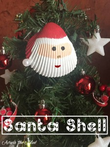 Santa Shell Ornament