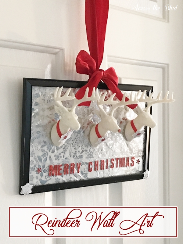 Dollar Store Craft Reindeer Wall Art