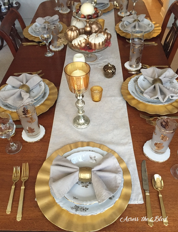 Thanksgiving Dining Room Decor Tablescape