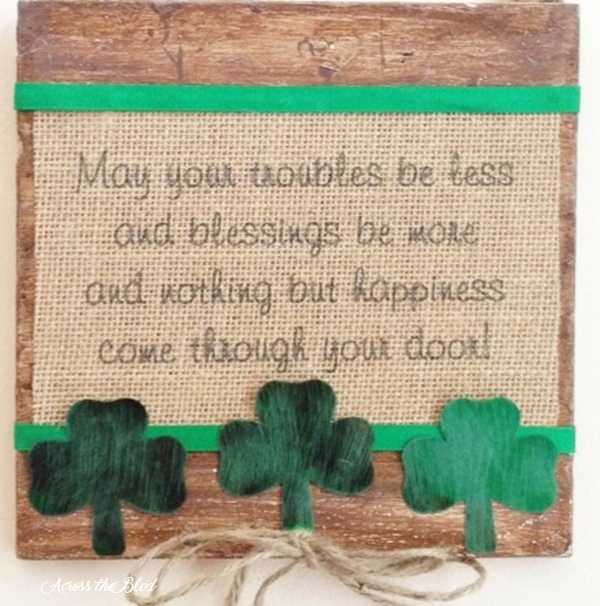 St Patrick's Day Irish Blessing Wall Art