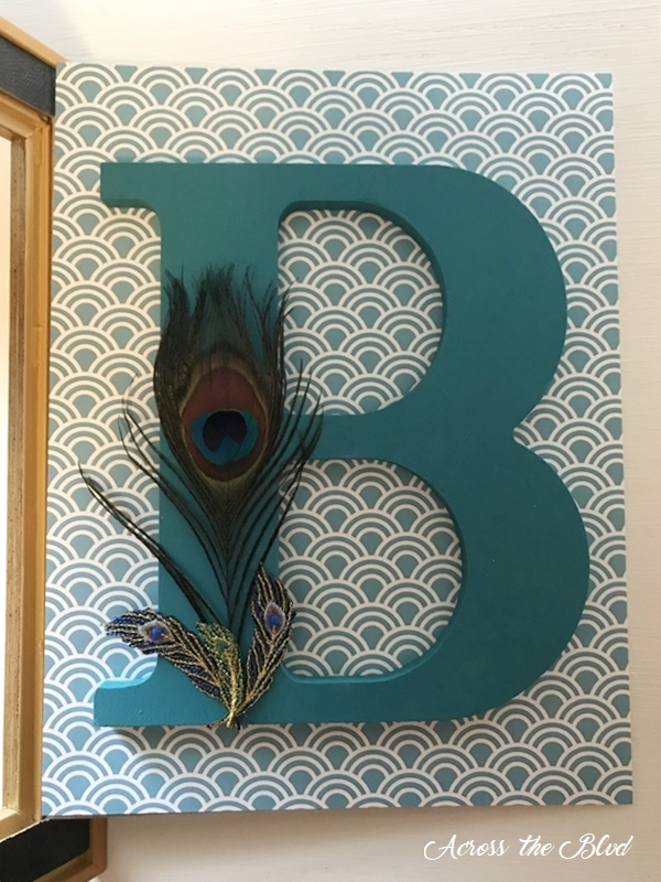 Personalized Peacock Decor Wall Art backing