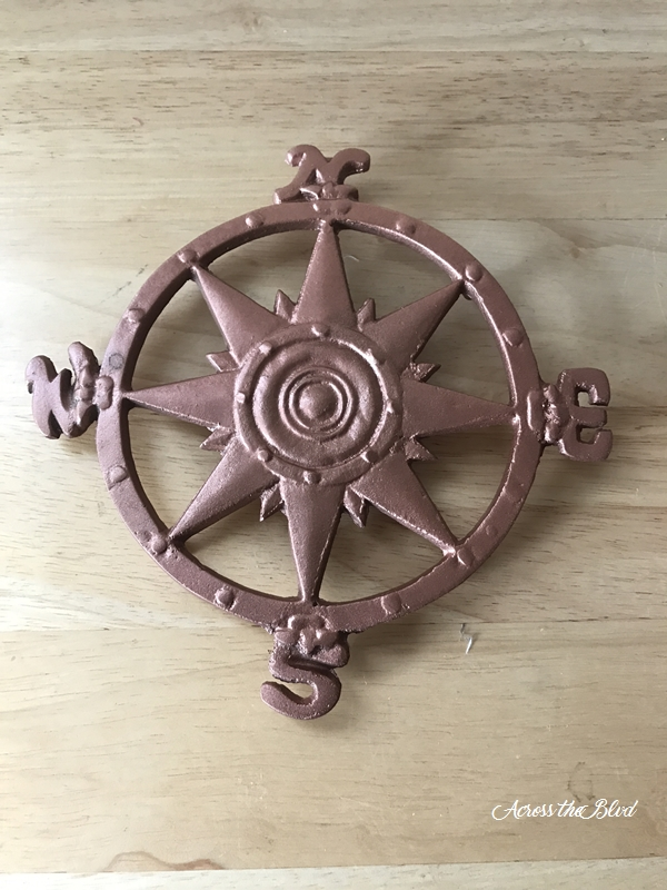 copper painted nautical decor