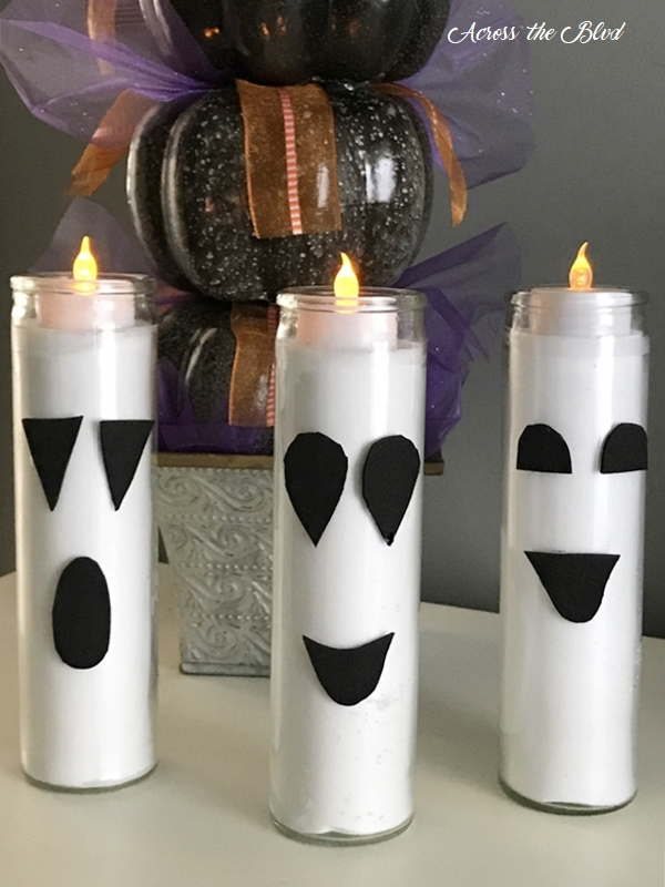 Dollar Store Candle Ghosts