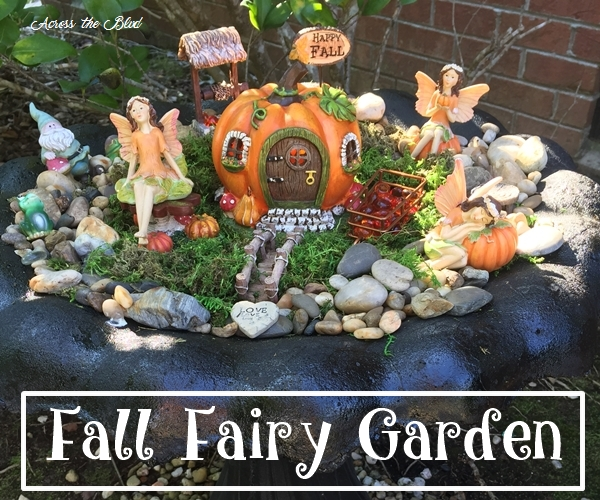 Bird Bath Fairy Garden For Fall