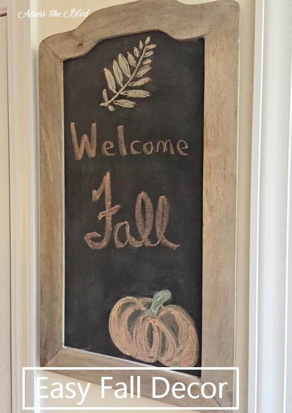 Welcome Fall Chalkboard