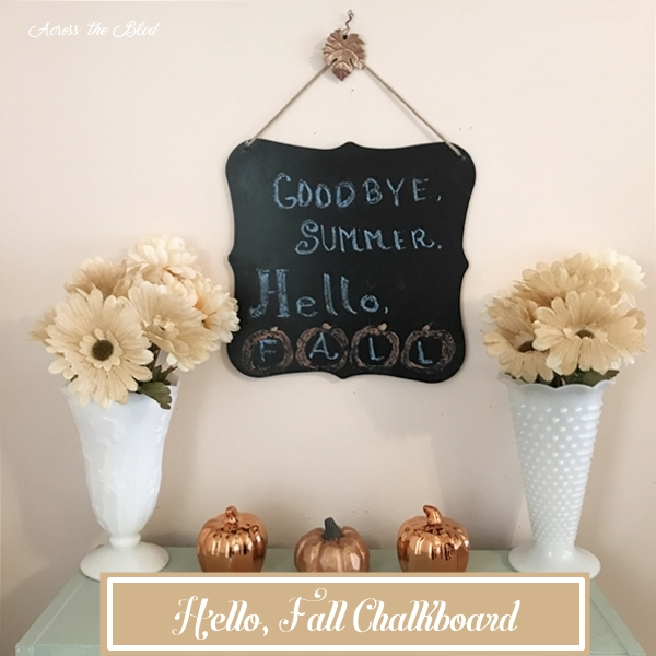 Hello Fall Chalkboard