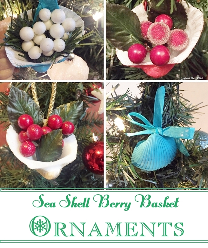 Sea Shell Berry Basket Ornaments Across the Blvd
