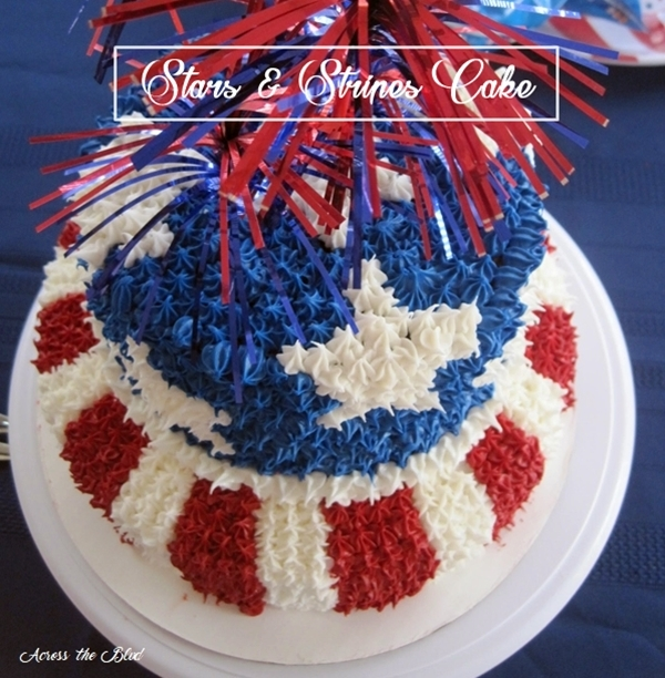 Stars and Stripes Cake Across the Blvd