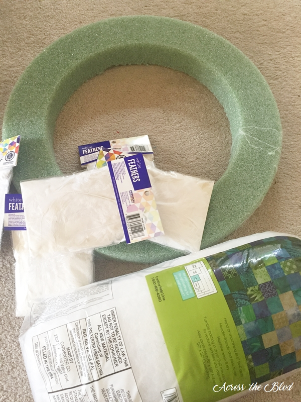 Feather Wreath Supplies